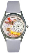 Whimsical Watches Women's S0440009 Cross Stitch Baby Blue Leather Watch