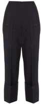 Jil Sander Bruce exaggerated-cuff cropped trousers