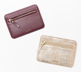 Lodis Set of Two Leather Card Cases