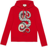 Gucci Cotton sweatshirt with snake print