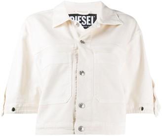 Diesel D-Reef ruffle-trimmed denim jacket
