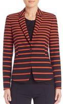 Akris Punto Graphic Stripe-Print Jacket