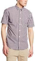 Tom Tailor Men's Ray Cosy Check Package Shirt/603 Regular Fit Short Sleeve Leisure Shirt - blue -