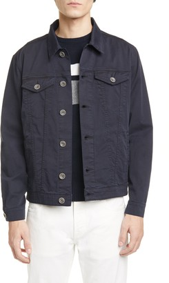 Eleventy Trim Fit Stretch Cotton Trucker Jacket