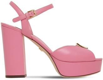 Dolce & Gabbana 120mm Leather Platform Sandals