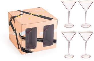 Rosanna Imports Anything Goes Glassware Martini Glass - Set of 4