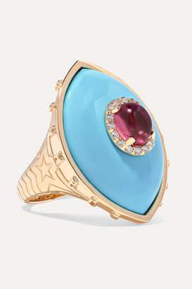 Marlo Laz Iris 14-karat Rose Gold Multi-stone Ring