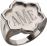 Jordann Sterling Silver Magnolia Signet Ring