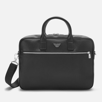 Emporio Armani Men's Small Briefcase - Black