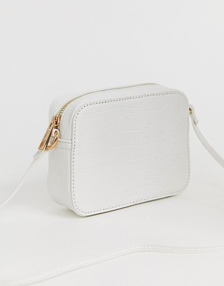 Asos Design DESIGN croc effect cross body camera bag