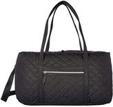 Vera Bradley Iconic Lay Flat Travel Duffel (Black) Bags