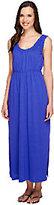 Stan Herman Rayon Jersey Sleeveless Maxi Dress with Ruffles