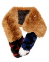 Fendi Striped fur scarf