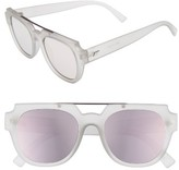 Le Specs Women's La Habana 52Mm Retro Sunglasses - Matte Mist