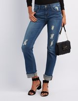 Charlotte Russe Sneak Peek Destroyed Crop Boyfriend Jeans