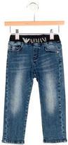 Armani Junior Boys' Logo Five Pocket Jeans