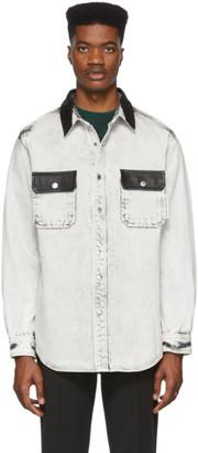 Alexander Wang White Denim Oversize Shirt