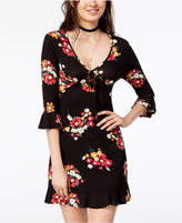 Almost Famous Juniors' Floral-Print A-Line Dress
