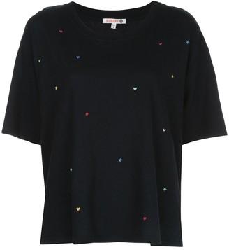 Sundry cropped sleeve boxy T-shirt
