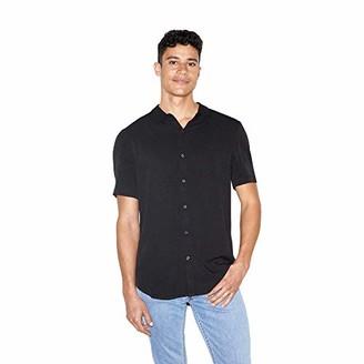 American Apparel Men's Viscose Short Sleeve Button Up Shirt