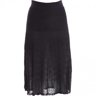 Alaia Navy Viscose Skirts