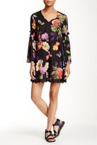Alexia Admor V-Neck Bell Sleeve Shift Dress