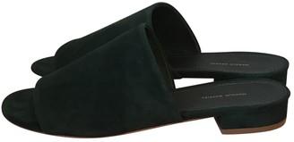 Mansur Gavriel Green Suede Sandals