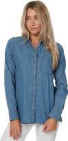 Cheap Monday Airy Open Back Womens Denim Shirt Blue