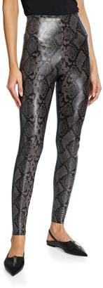 Commando Animal-Printed Faux-Leather Leggings