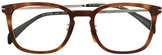 David Beckham Tortoiseshell Square Frame Sunglasses