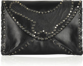 Jimmy Choo Cara large leather clutch