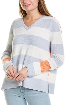 LISA TODD Stripe Hype Lite Sweater