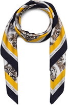 Stella McCartney Cat Print Scarf