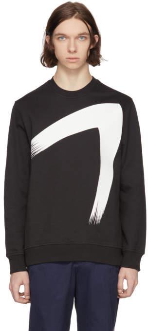 Diesel Black Gold Black Paint Brush Sweatshirt