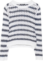 Koro striped cotton and linen-blend sweater