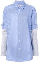 Maison Margiela contrasting sleeves shirt