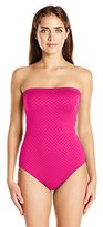 Gottex Women's Diamond in the Rough Bandeau One Piece Swimsuit