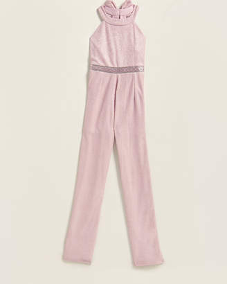 Rare Editions Girls 7-16) Lurex Halter Jumpsuit