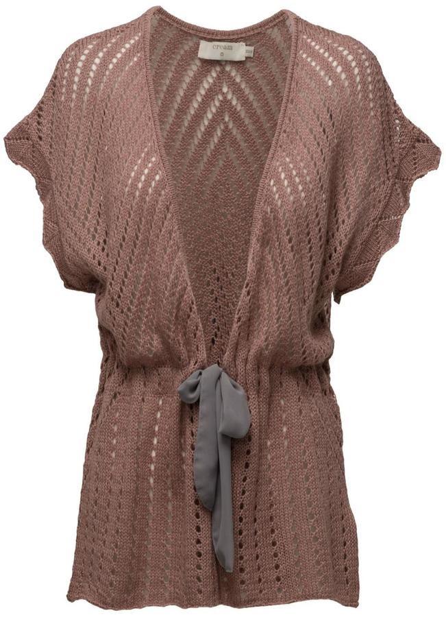 Cream Knit Open Cardigan