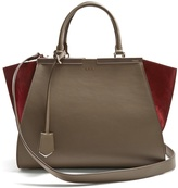Fendi 3Jours contrast-panel leather and suede tote