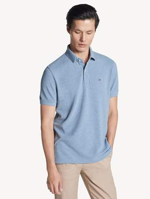 Tommy Hilfiger Custom Fit Polo In Heathered Cotton