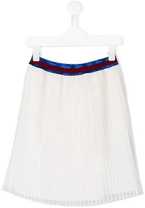 Gucci Kids Iridescent Plisse Skirt