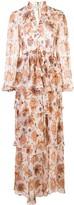 Shona Joy floral-print tiered skirt maxi dress