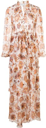 Shona Joy Floral-Print Tiered Skirt Maxi Dress