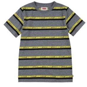 Levi's Logo Big Boys Striped T-shirt