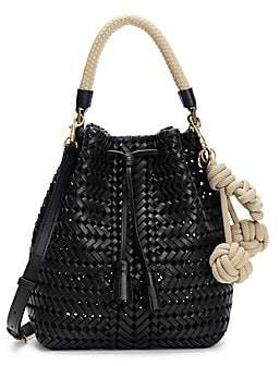 Anya Hindmarch Women's Neeson Drawstring Woven Leather Bucket Bag
