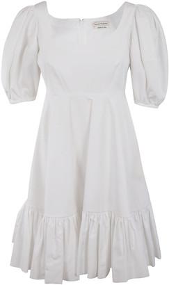Alexander McQueen Ruffled Skirt Mid-length Dress