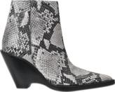 Acne Studios Caroline snake print boot