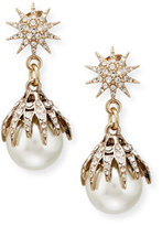 Lulu Frost Electra Pearly Crystal Ball Drop Earrings