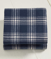 L.L. Bean Ultrasoft Comfort Flannel Sheet, Flat Windowpane